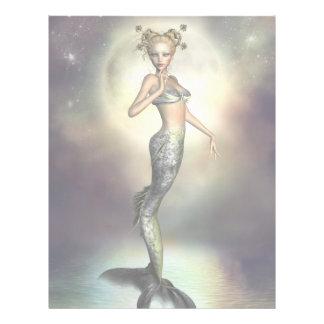 """Sirena mística de la luna folleto 8.5"""" x 11"""""""