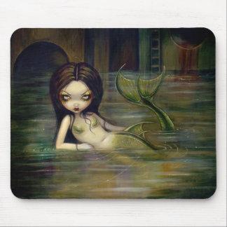 """""""Sirena"""" Mousepad de la alcantarilla Tapetes De Ratón"""