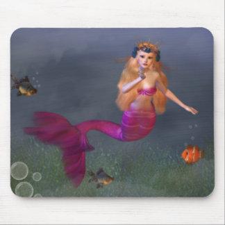 Sirena Mousepad de las rosas fuertes Alfombrillas De Ratones