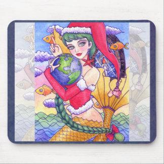 Sirena Mousepad del navidad de Ana Howard Alfombrillas De Ratones