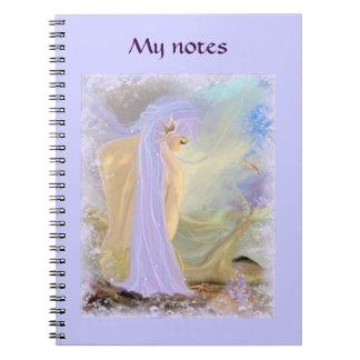 Sirena Neón-Haired Libro De Apuntes