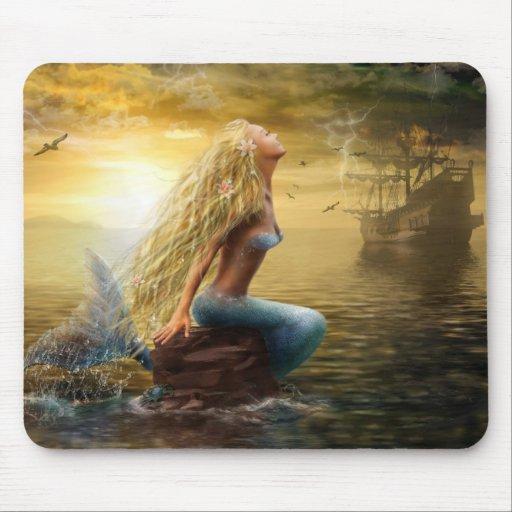 Sirena/option2 del cojín de Mousw Tapetes De Raton