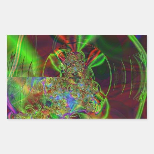 Sirena Rectangular Pegatina