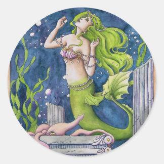 Sirena Pegatina Redonda