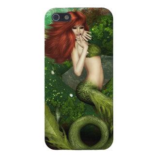 Sirena pelirroja iPhone 5 cárcasas