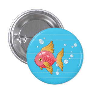 Sirena (pescado, azules) pin redondo 2,5 cm