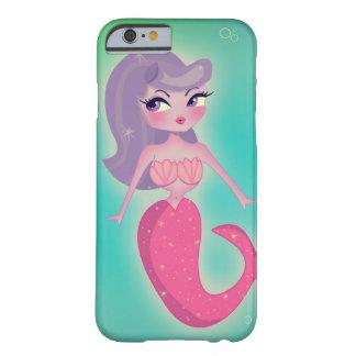 Sirena por el caso del iPhone 6 de Sugarbrat Funda De iPhone 6 Barely There
