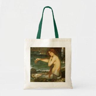 Sirena por el Waterhouse de JW, arte de la Bolsa Tela Barata