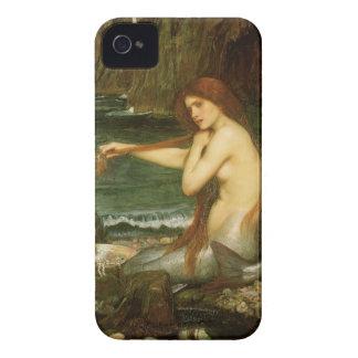 Sirena por el Waterhouse de JW, arte de la Case-Mate iPhone 4 Cárcasas