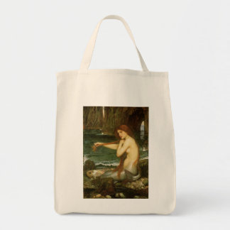Sirena por el Waterhouse de JW arte de la mitolog Bolsa De Mano
