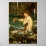 Sirena por el Waterhouse de JW, arte de la mitolog Poster