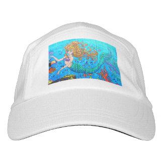sirena redheaded subacuática gorra de alto rendimiento