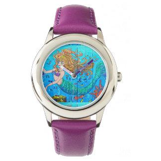 sirena redheaded subacuática reloj de mano