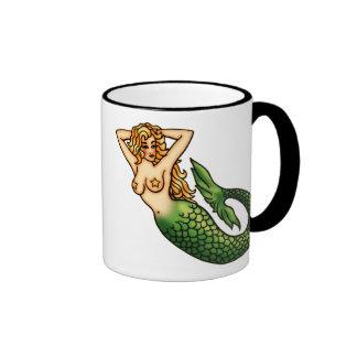 Sirena retra taza de café