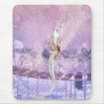 Sirena rosada de las mareas tapetes de ratón