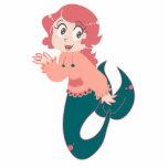 Sirena rosada del dibujo animado esculturas fotograficas