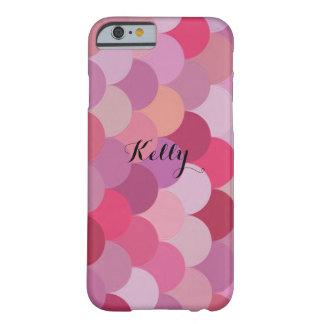 Sirena rosada personalizada el día de San Valentín Funda Para iPhone 6 Barely There