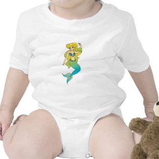sirena rubia bonita trajes de bebé