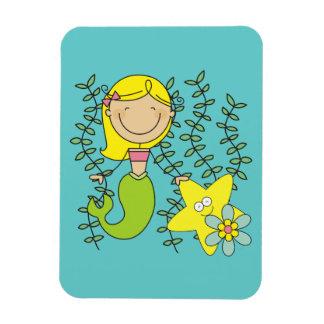 Sirena rubia imán flexible