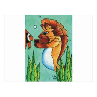 Sirena siamesa tarjeta postal