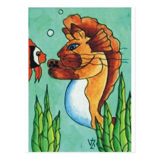 Sirena siamesa tarjetas postales