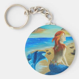 Sirena - sirena llavero redondo tipo pin