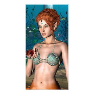 Sirena Tarjeta Personal Con Foto