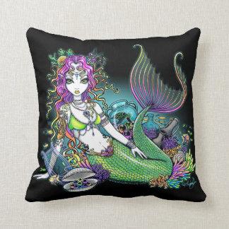 Sirena tropical del arco iris de Lyra almohada de
