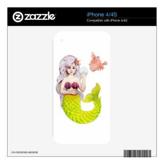 Sirena y amigo skin para el iPhone 4S