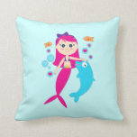 Sirena y delfín almohadas