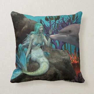 Sirena y delfín cojines