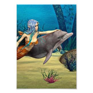 Sirena y delfín fotografía