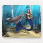 Sirena y delfín tapete de ratones