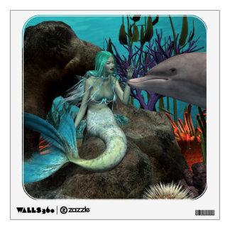 Sirena y delfín vinilo