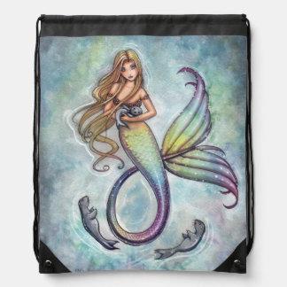 Sirena y el arte de la fantasía de la sirena de mochila
