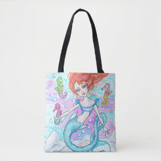 Sirena y la bolsa de asas del personalizado de los