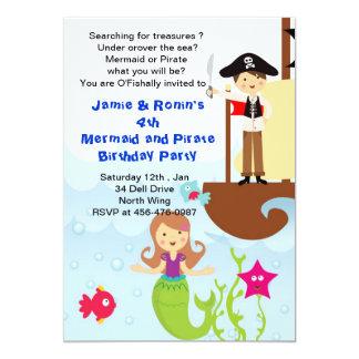 Sirena y la invitación de Brithday del pirata