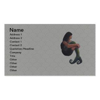 Sirena y la luna plantilla de tarjeta personal