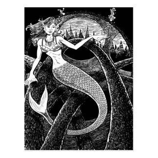 Sirena y los arcos tarjeta postal