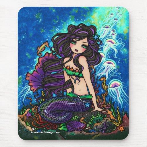 "Sirena y medusas Mousepad de ""Kathleen"" Tapetes De Ratón"