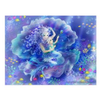 Sirena y niño tarjetas postales