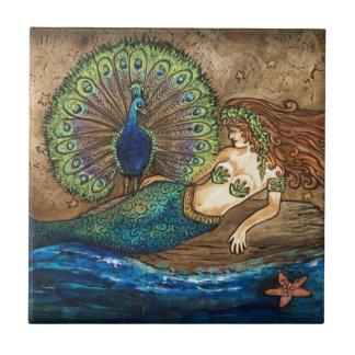 Sirena y pavo real azulejos ceramicos
