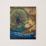 Sirena y pavo real rompecabeza con fotos