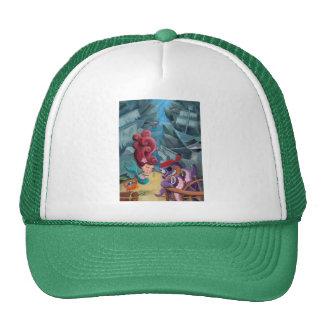 Sirena y piratas lindos gorras de camionero