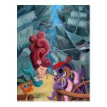 Sirena y piratas lindos postales