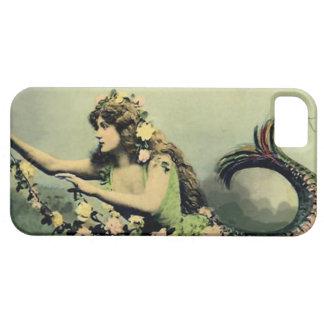 Sirena y rosas iPhone 5 carcasas