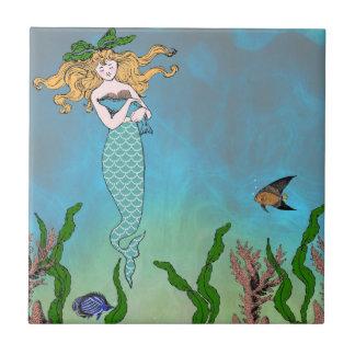 Sirena y sello azulejos ceramicos