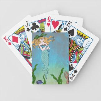 Sirena y sello barajas de cartas