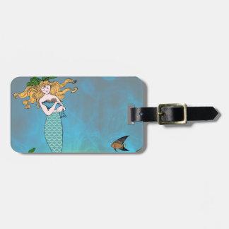 Sirena y sello etiqueta para maleta