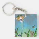 Sirena y sello llavero